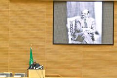 O AU paga o tributo a ATO Meles Zenawi Imagem de Stock Royalty Free