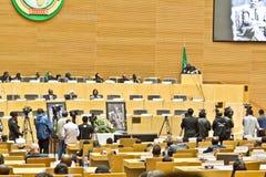 O AU paga o tributo a ATO Meles Zenawi Imagem de Stock