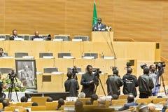 O AU paga o tributo a ATO Meles Zenawi Imagens de Stock