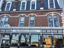 O ` Audiffret Building de Hippolite D, desde 1889, 2 imagens de stock