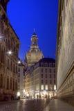 O auf do mit Blick de Fürstenzug morre Frauenkirche Imagens de Stock Royalty Free