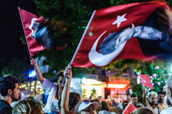 30o August Turkish Victory Day Parade na noite Imagens de Stock