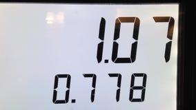 O aumento do custo de bombear o gás video estoque