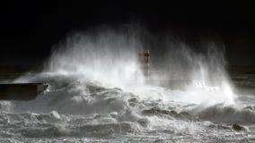 Tempestade real do mar Imagens de Stock Royalty Free