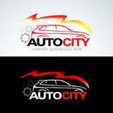 O auto molde do logotipo do carro da cidade, auto carros, logotipo do carro, velocidade, automotivo, automóvel presta serviços de ilustração stock