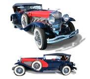 O automóvel clássico Duesenberg- do vintage isolou-se fotos de stock