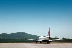 O avião comercial Imagens de Stock