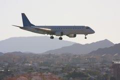 O avião comercial Fotografia de Stock Royalty Free