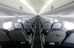O avião de passageiros assenta as fileiras 027 fotografia de stock royalty free