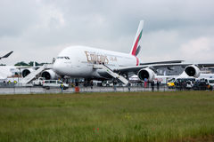 O avião de passageiros o maior do passageiro no mundo Airbus A380-800 Imagens de Stock