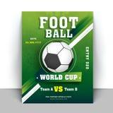 O aviador ou a bandeira do campeonato do mundo do futebol projetam com detalhes do fósforo ilustração do vetor
