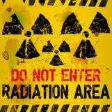 Aviso da área da radiação ilustração stock