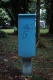 O azuis assinam dentro o parque Fotografia de Stock