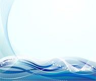 O azul abstrato curva o fundo Foto de Stock