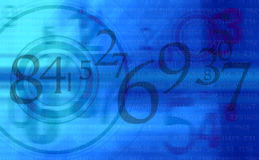 O azul abstrato numera o fundo Imagem de Stock Royalty Free