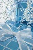 O azul apresenta o vertical Imagem de Stock Royalty Free