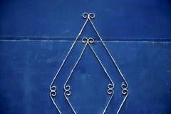 o azul articula Marrocos oxidado em África o faca de madeira velho Foto de Stock Royalty Free