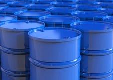 O azul barrels o fundo Imagens de Stock