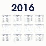 O azul Calendars 2016 Imagem de Stock Royalty Free