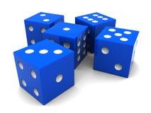 O azul corta Imagem de Stock