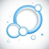 O azul 3D abstrato circunda o fundo. ilustração do vetor