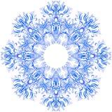 O azul da aquarela do vetor sae do ornamento Foto de Stock Royalty Free