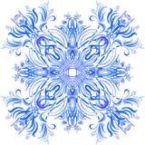 O azul da aquarela do vetor sae do ornamento Imagens de Stock Royalty Free