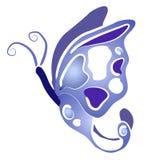 O azul de Clipart da borboleta voa 2 Fotografia de Stock