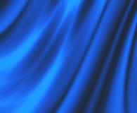 O azul do cetim drapeja a tela Fotografia de Stock