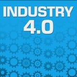 O azul do ponto zero da indústria quatro alinha o fundo Fotografia de Stock