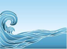 O azul do vetor acena o fundo. ilustração stock