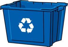 O azul do vetor recicl o escaninho Fotografia de Stock