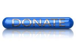 O azul doa o ícone ilustração stock