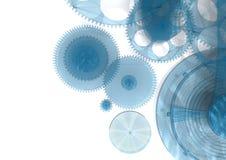 O azul engrena o fundo ilustração stock