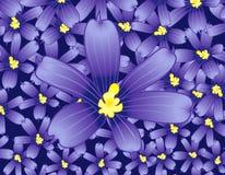 O azul floresce o fundo ilustração royalty free