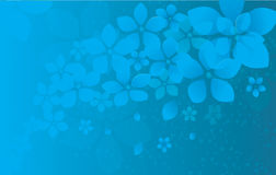 O azul floresce o fundo Fotos de Stock Royalty Free