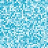 O azul geométrico abstrato esquadra o fundo ilustração stock