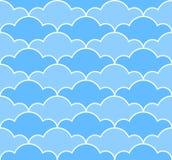 O azul nubla-se o teste padrão sem emenda Fotos de Stock