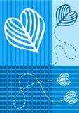 O azul obstrui o cartão do convite do casamento Ilustração do Vetor