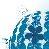 O azul pontilha o fundo ecológico Fotografia de Stock Royalty Free