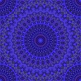 O azul profundo coloriu o fundo sem emenda abstrato decorativo do laço do mão-desenho com muitos detalhes para o projeto do lenço ilustração royalty free