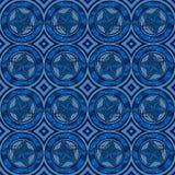 O azul protagoniza no teste padrão dos círculos fotografia de stock