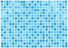 O azul sem emenda do vetor telha o fundo Imagens de Stock