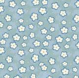 O azul sem emenda floresce o fundo Foto de Stock Royalty Free