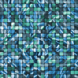 O azul sem emenda telha o teste padrão pronto do swatch. EPS 8 Imagem de Stock