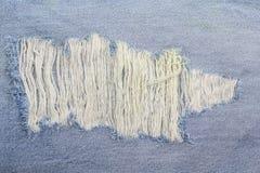 O azul textured listrado usou o fundo de linho do vintage da sarja de Nimes das calças de brim Foto de Stock Royalty Free