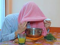 O bálsamo vaporiza para tratar frios e a gripe Imagem de Stock Royalty Free