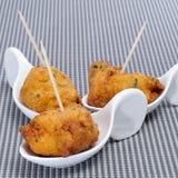 O bacalhau fritters tapas espanhóis Imagens de Stock Royalty Free