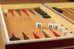 O Backgammon corta Foto de Stock Royalty Free