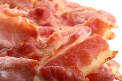 O bacon friável corta o tiro macro super Fotos de Stock